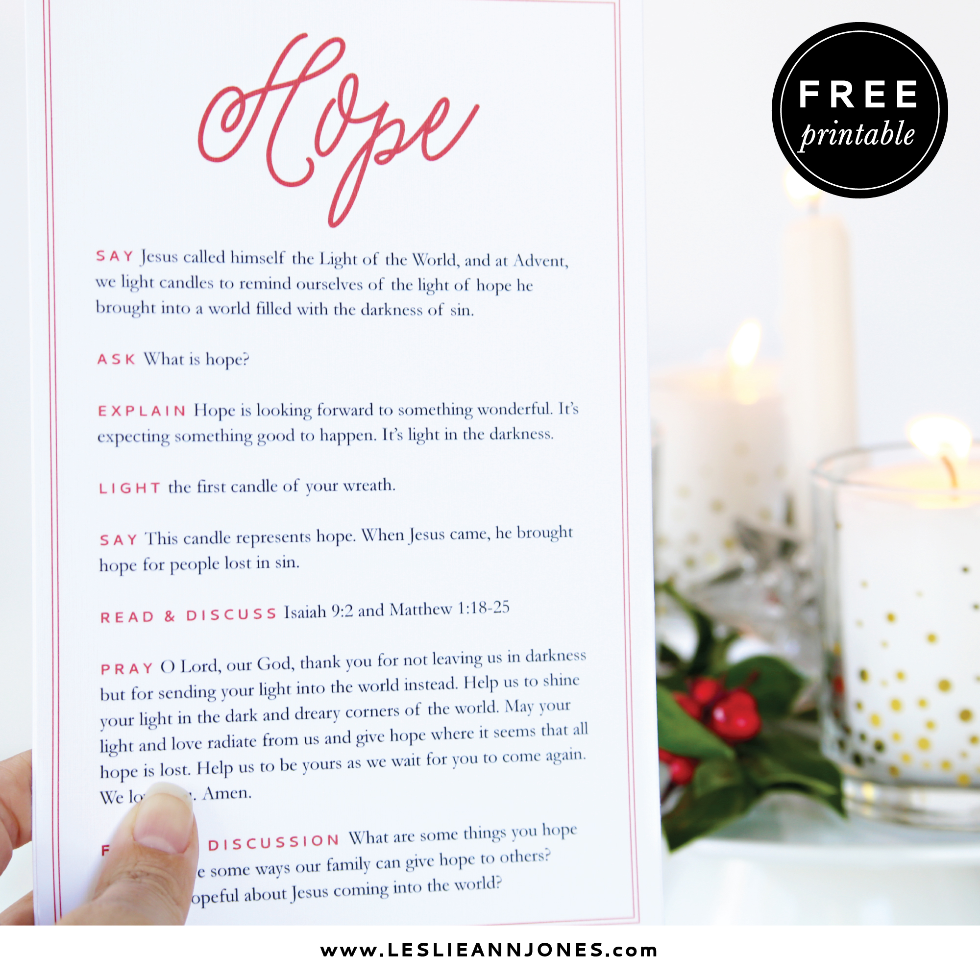 A Simple Amp Free Family Advent Wreath Devotional Leslie