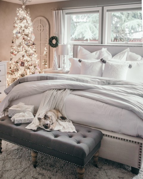 master bedroom decorating ideas christmas Holiday Home Tour: Christmas Decor Ideas — HOUSE OF FIVE