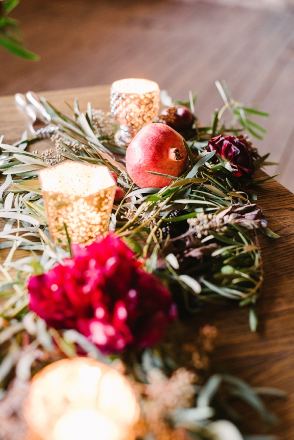 Organic and Industrial Harvest Wedding with Burgundy and