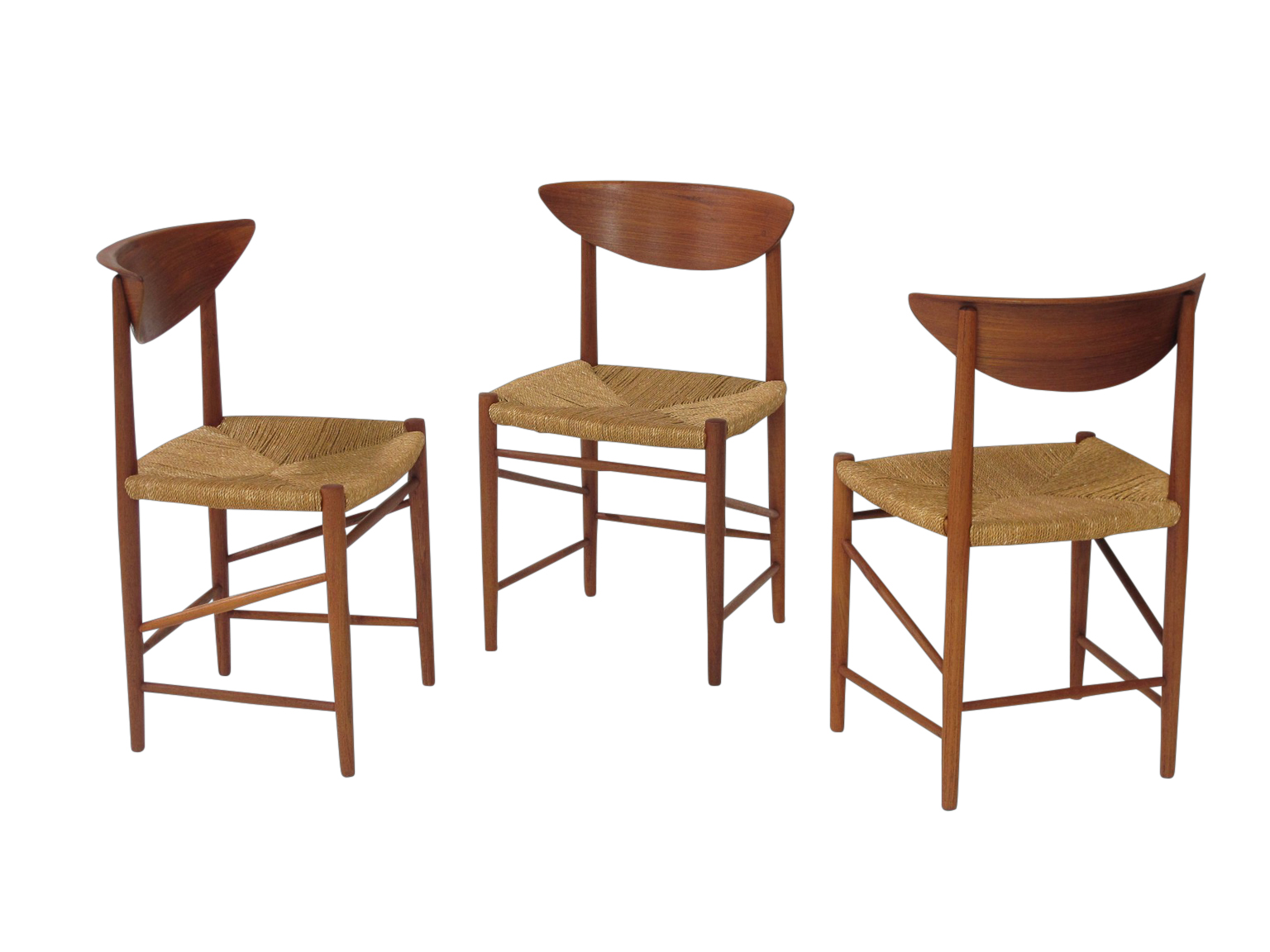 Seagrass Dining Chairs Peter Hvidt Dining Chairs With Seagrass Seats Chris Howard