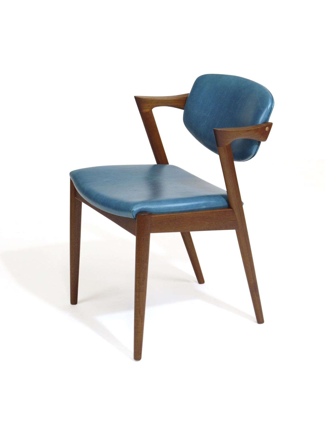 Aqua Dining Chairs Kai Kristiansen Z Dining Chairs In Aqua Blue Leather 24 Available