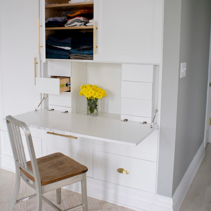 corner top kitchen cabinet laminate countertops home depot creative ways to hide a small office — renoguide ...