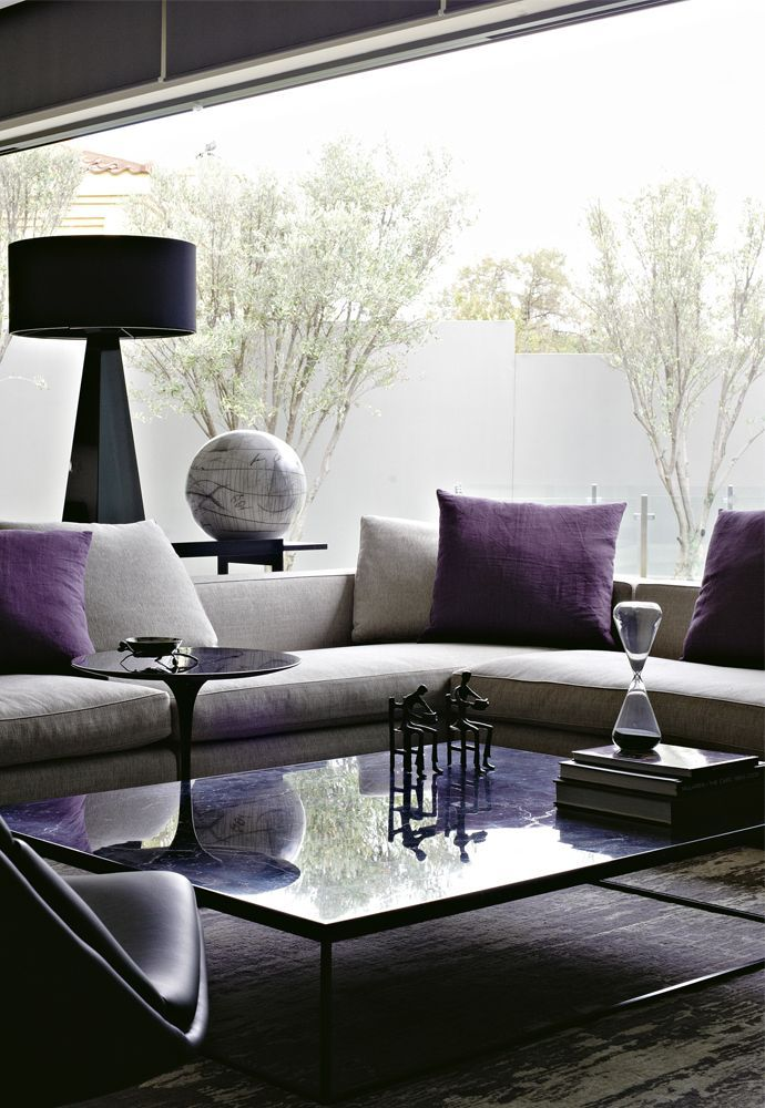 Purple Living Room Ornaments