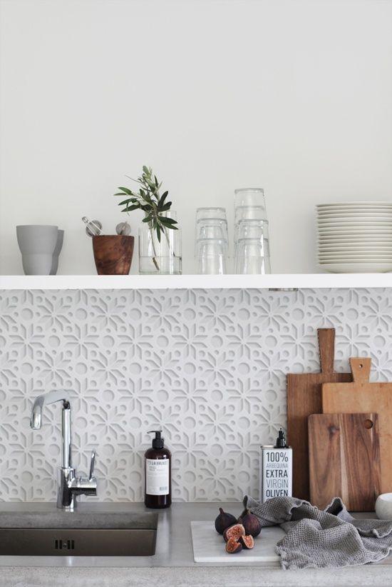 3d Wallpaper Subway Tile White 40 Sensational Kitchen Splashbacks Renoguide