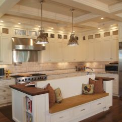 Kitchen Benches Oak Table And Chairs 55 Functional Inspired Island Ideas Designs With Bench