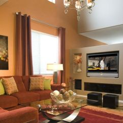 Orange Living Room Designs Light Stand 30 Elegant Colour Schemes Renoguide Australian Modern