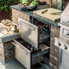 Backyard Kitchen Designs Cherry Cabinets 45 Exceptional Outdoor Ideas And Renoguide Refrigerated Drawers For