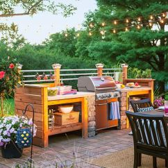 Diy Outdoor Kitchen Plans Tiny House Appliances 45 Exceptional Ideas And Designs Renoguide Country Patio