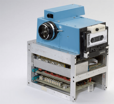 Kodak engineer invents the 1st digital camera—Don't you love the cassette tape?