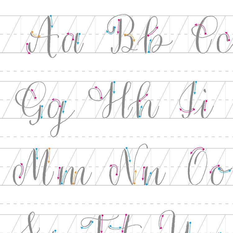 Printable Worksheets » Practice Calligraphy Worksheets