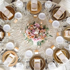 Gold Chair Covers With Black Sash Modern Furniture Chairs Finding The Right Napkin For Your Wedding | Sixpence Events