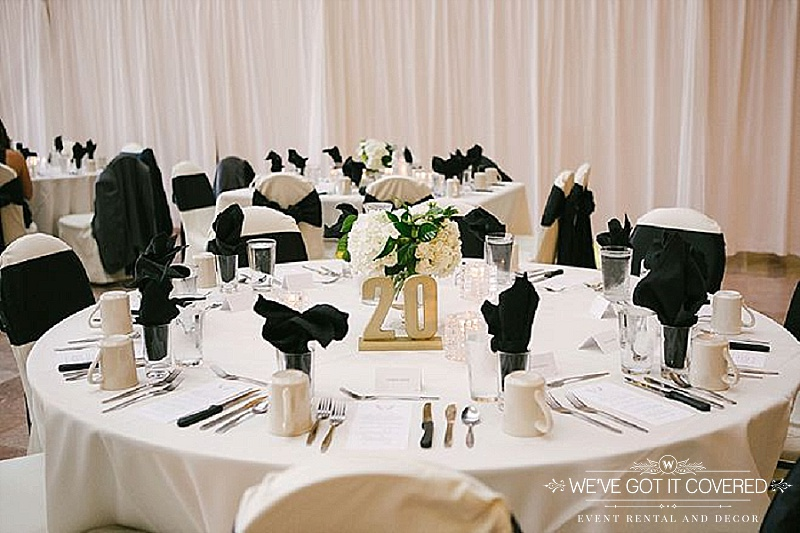 gold chair covers with black sash canvas sling plans finding the right napkin for your wedding sixpence events flame fold napkins in water glass white table linen