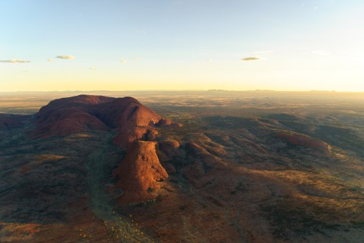 Kata Tjuta from the sky.