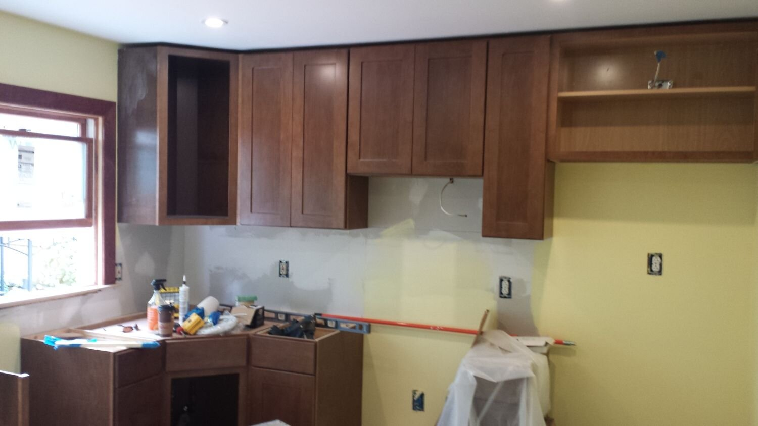 remodel a kitchen barn doors with added pass through ink design concepts llc new cabinets are taking shape