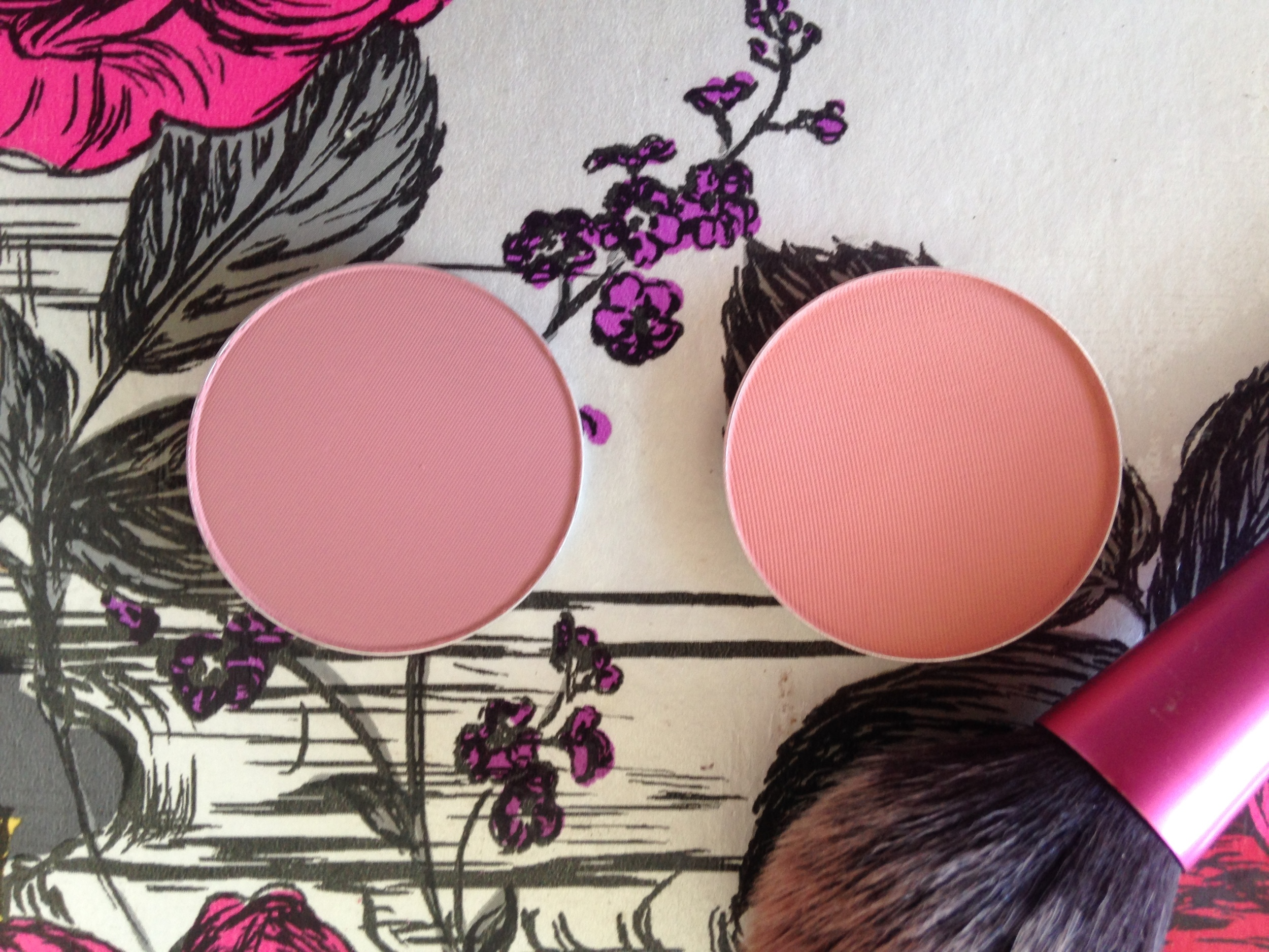 Pro Palette Blushes in Blushbaby (left) and Melba