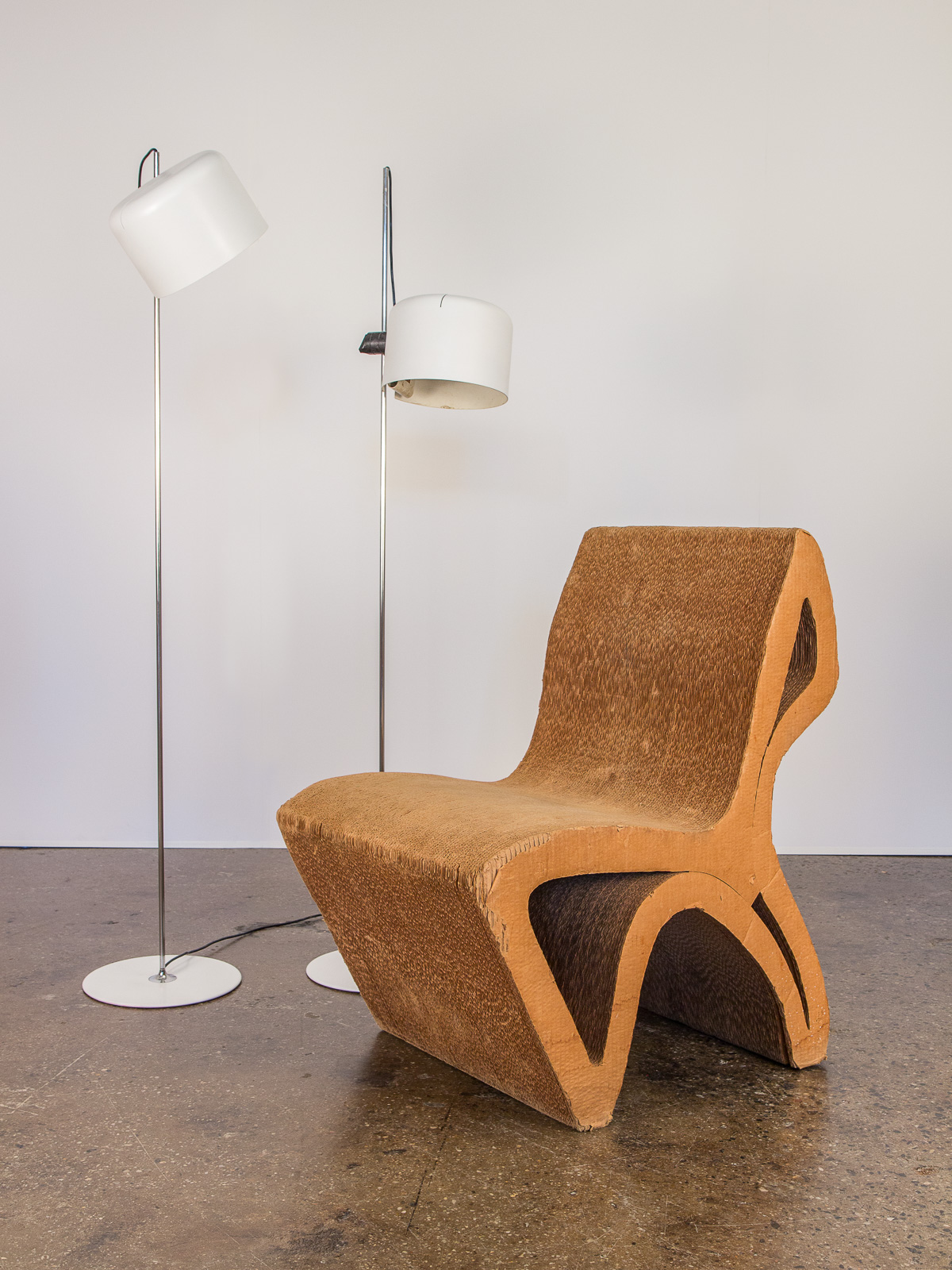 frank gehry cardboard chairs blue wing back chair vintage corrugated oam open air modern 6 jpg