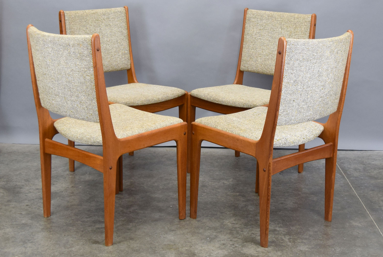 danish modern dining chair indoor lounge mid century teak chairs by johannes andersen set 4 sold
