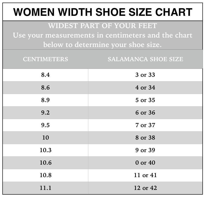 Women width shoe size chartg also chart  salamanca custom made tango shoes new york rh newyorktangoshoes