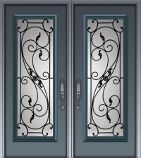 Wrought Iron Glass Door Inserts  Distinctive Glass ...