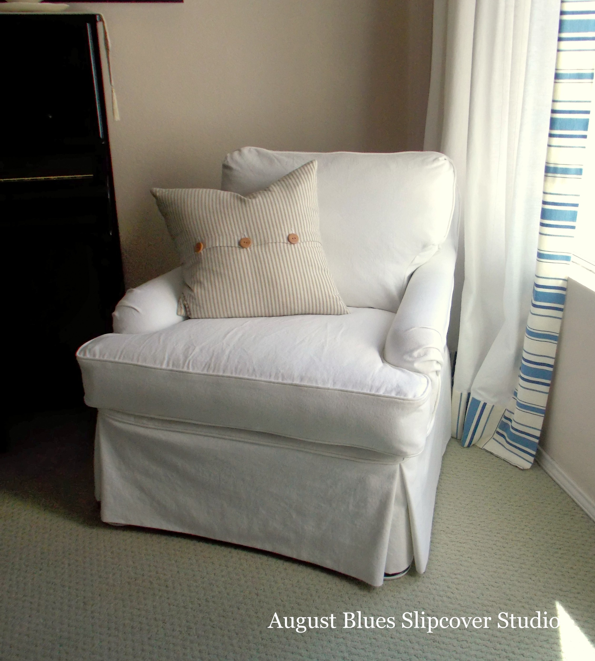 how much fabric to cover a chair cushion plastic covers for dining room seats more white denim  august blues