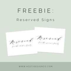 Reserved Signs For Chairs Template Swing Chair Buy Online Wedding Templates Tables Free Printable