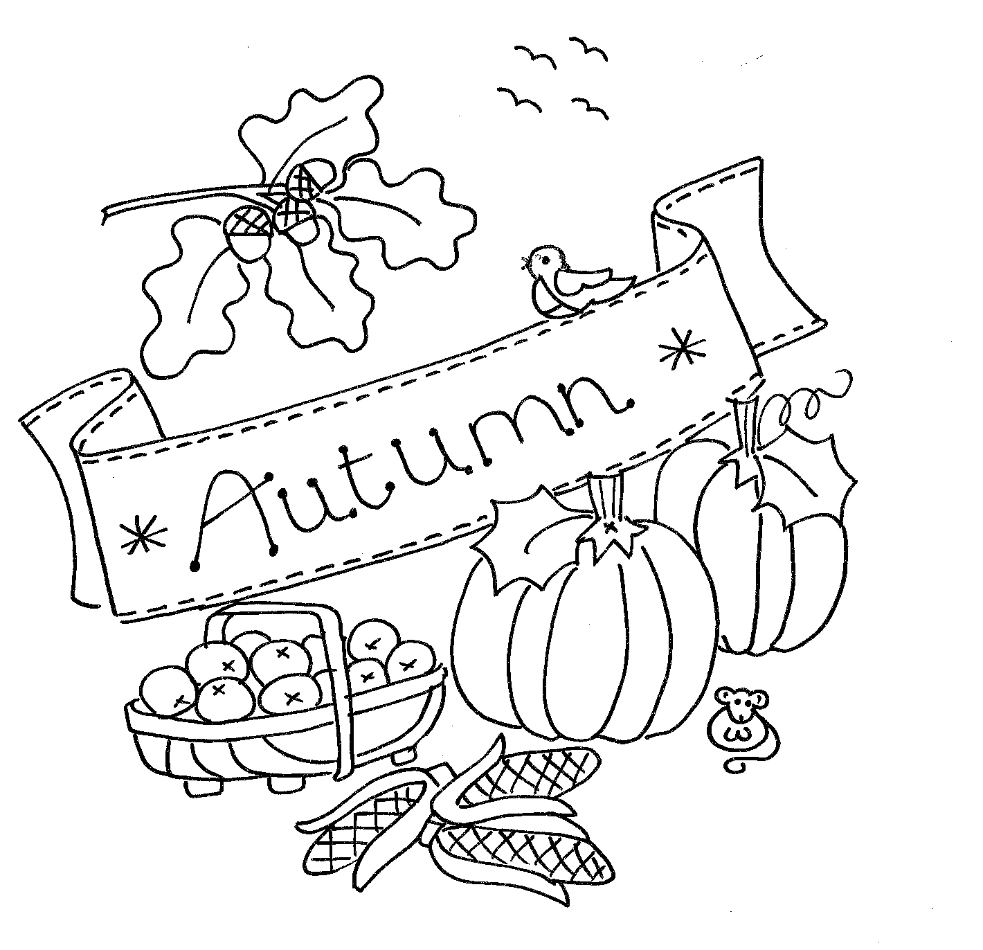 Autumn Digital Motif — Dandelion Designs