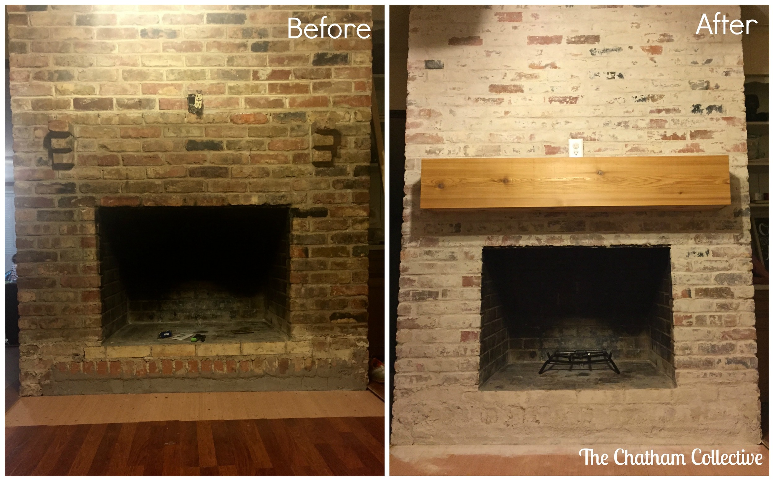 How To Mortar Wash German Smear A Brick Fireplace