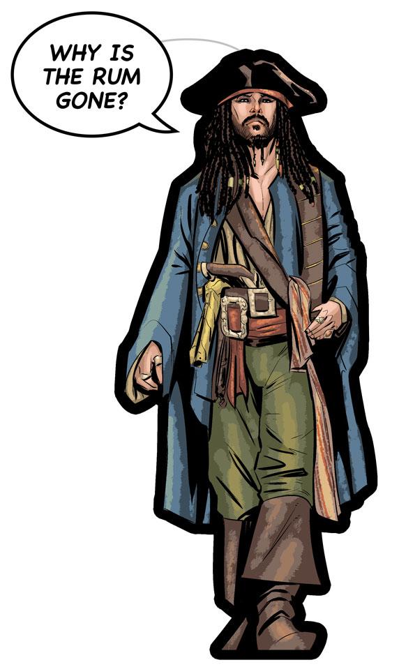 captain jack sparrow cartoon