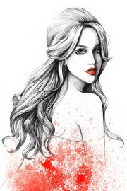 commercial fashion and beauty illustration
