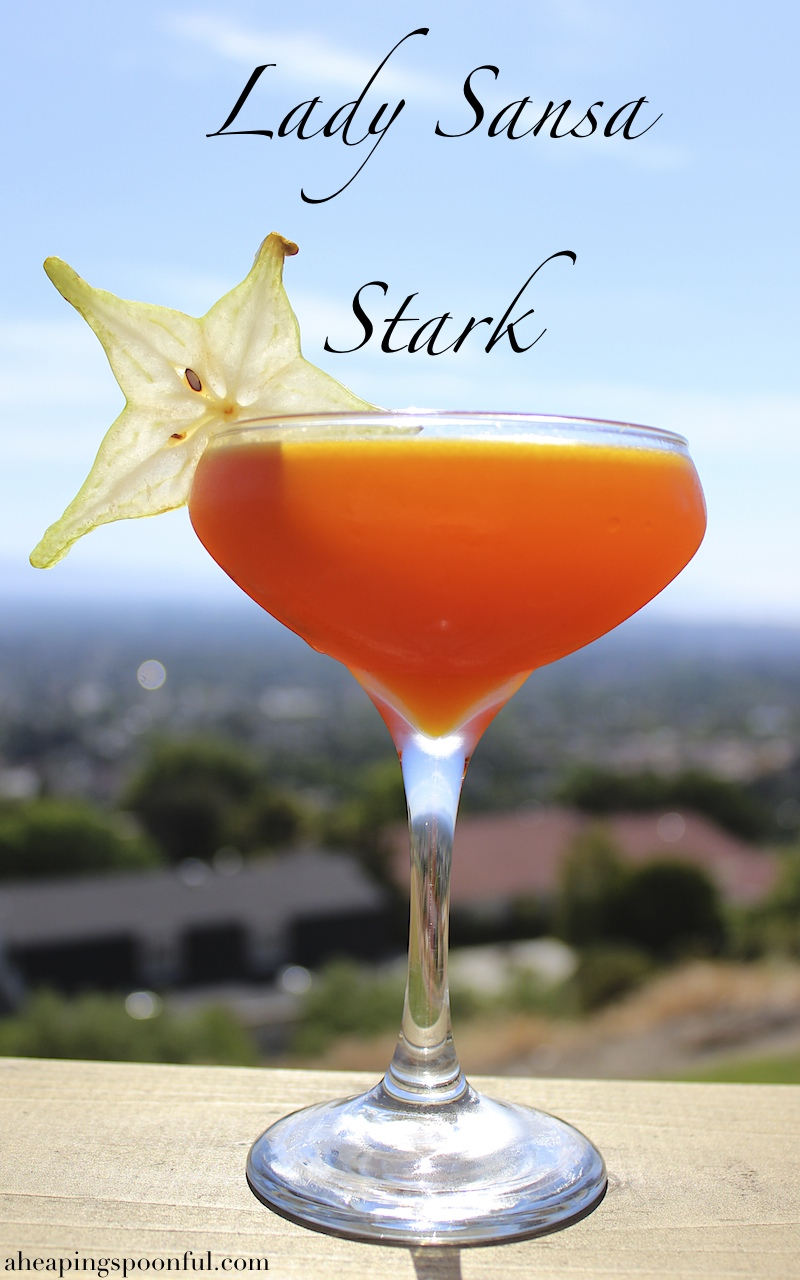 Lady Sansa Stark Stark Fruit martini for your Game of Thrones series finale watch party