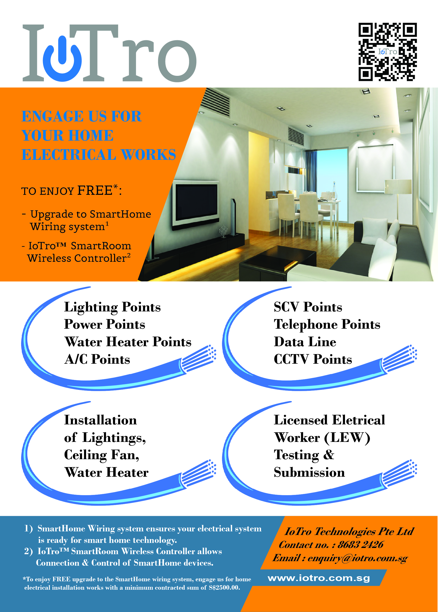 hight resolution of promotion for new hdb bto electrical installation
