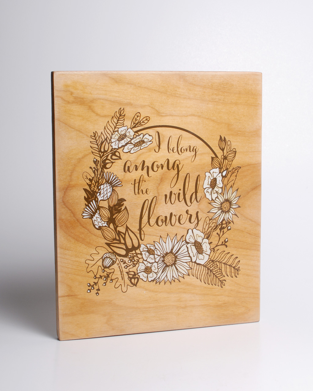 wildflowers wooden wall hanging