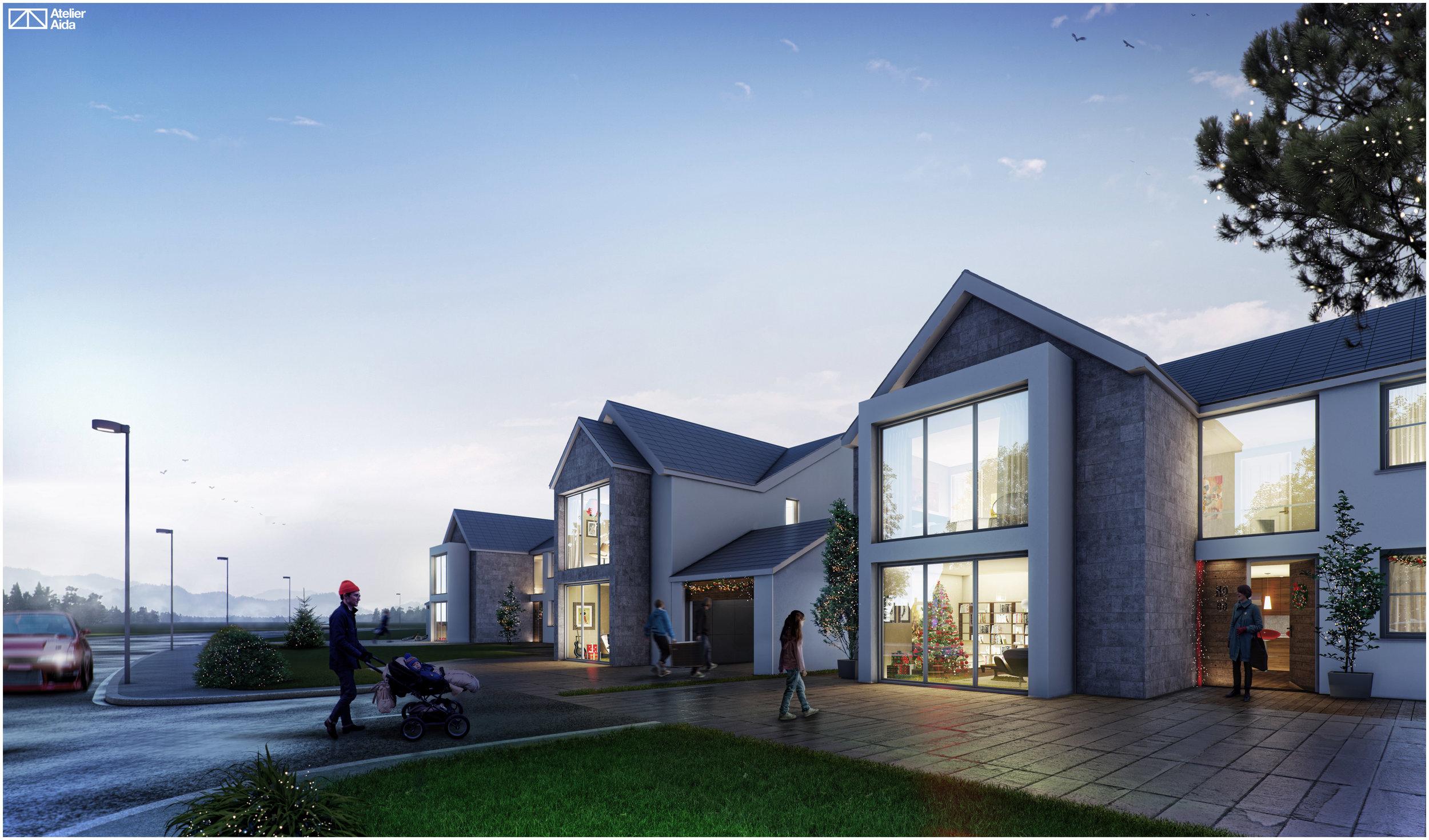 3 new houses old way bishopstone swansea [ 2500 x 1470 Pixel ]