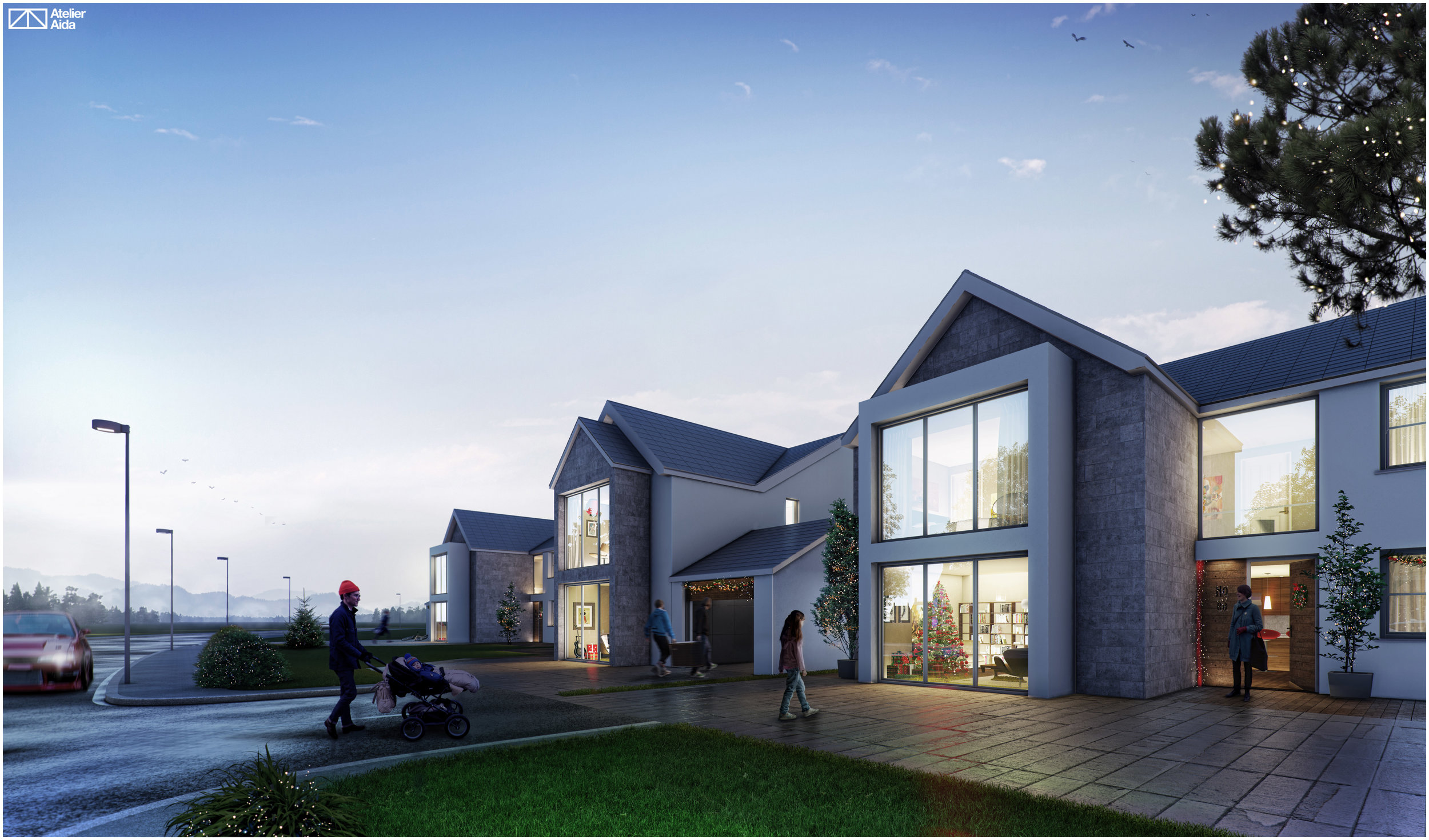 hight resolution of 3 new houses old way bishopstone swansea