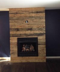 How to create a DIY reclaimed wood fireplace surround for ...