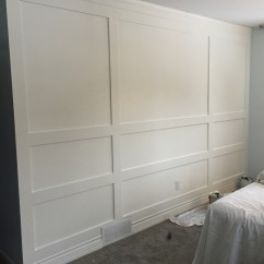 Dark Wood Living Room Furniture Ideas Grey And Blue Building A Paneled Wall - You Can Do It Too! — Grand ...