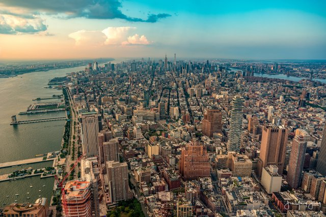 1300 feet above Manhattan  - Purchase this photo through my print store!