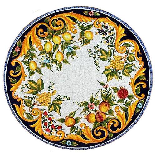 Italian Deruta Garden Tables  Tops  Bellinis Antique Italia