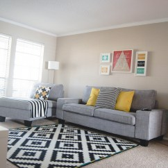 White Modern Living Room Sears Ca Furniture A Update Savannah Smiled Ikea Black Apartment 3