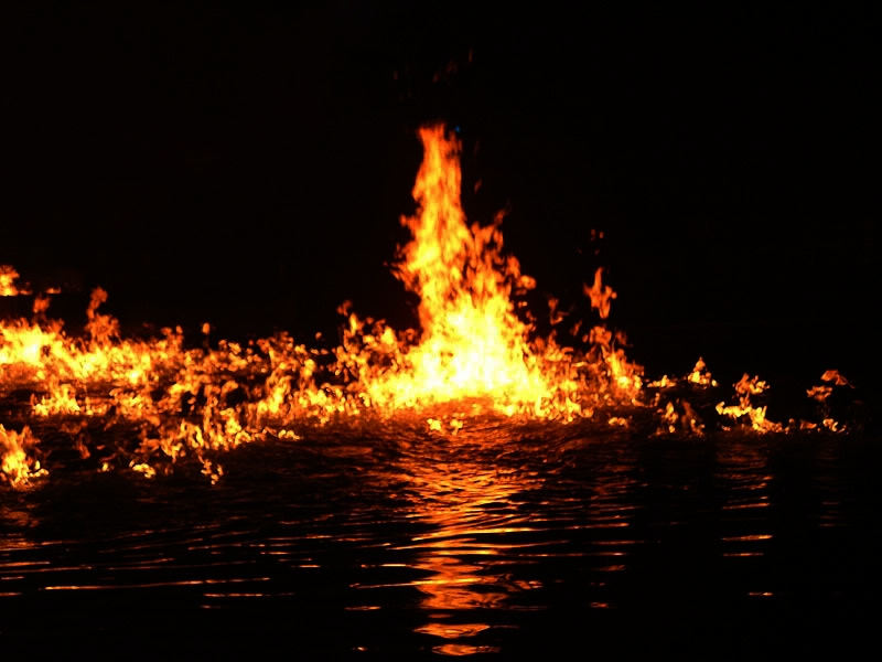Image result for water on fire