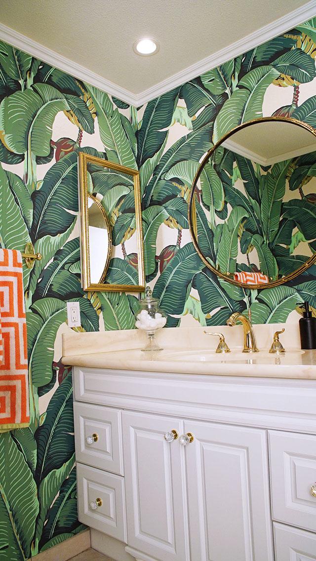 Design Around Banana Leaf Wallpaper  danielle  co
