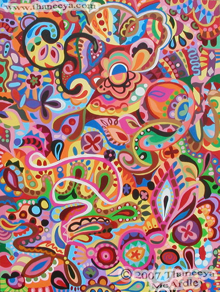 Colorful Abstract Art Detailed Psychedelic Abstract