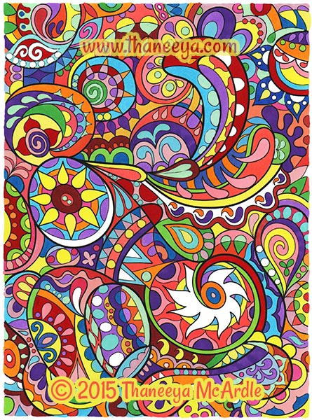 Groovy Abstract Coloring Book By Thaneeya McArdle