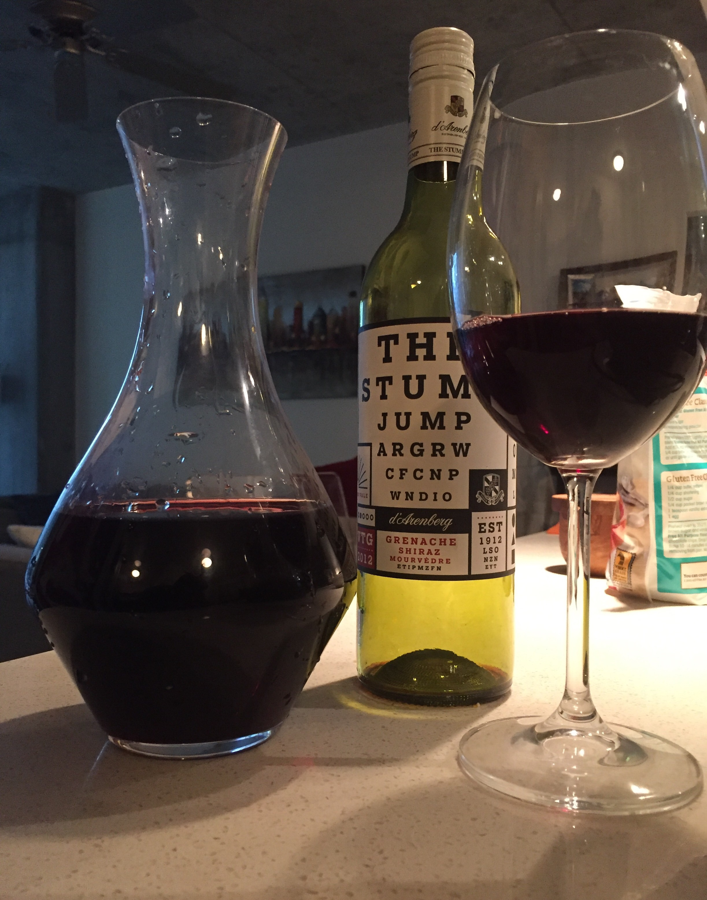 92 Wine Spectator points demanded a decanter.