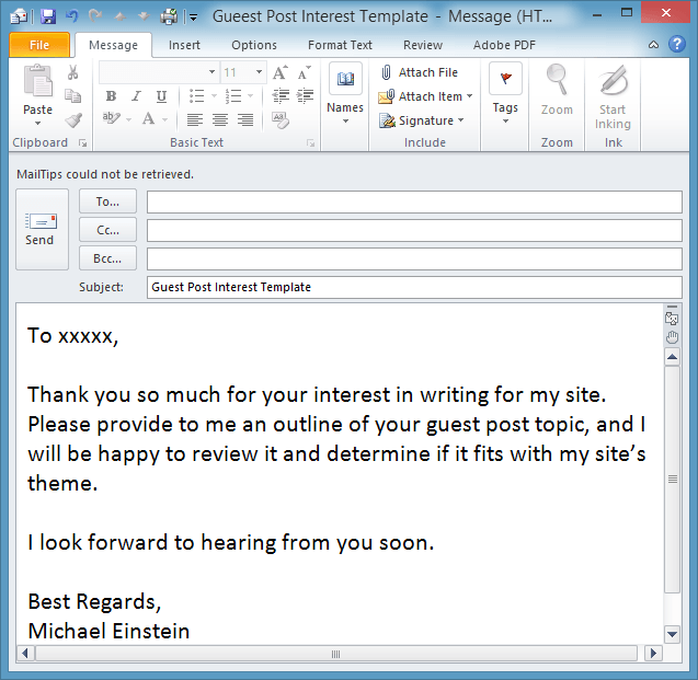 Save Time With An Outlook Email Template — Email Overload