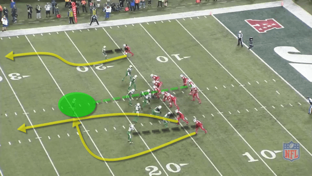 - Deep safety is actually a spy on Taylor. -Bills do a decent job of picking up the blitz assignments, but the routes are so deep that Taylor doesn't have enough time.