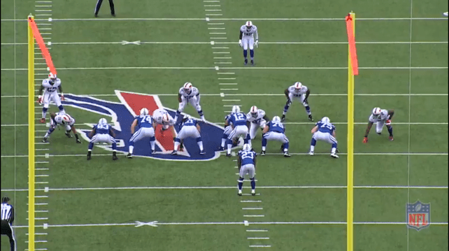 4-3 Defense. Offense is in 11 personnel, single back formation. Bills play a true one gap defense.