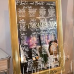 Wedding Mirror Seating Chart Ideas Calligraphy By Ct