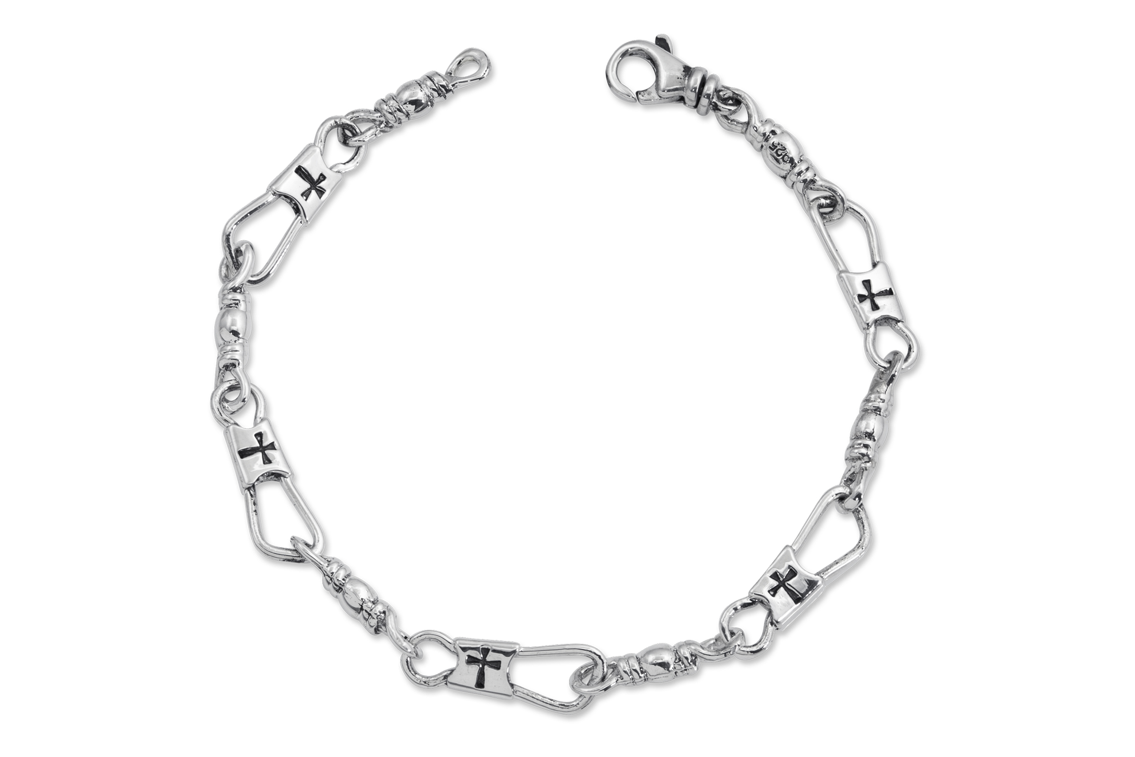 Standard Fisher of Men with Cross Sterling Silver — Alonso