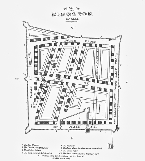 small resolution of original map of the area protected by kingston s stockade fence in 1695 via james werner